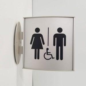 Washroom sign