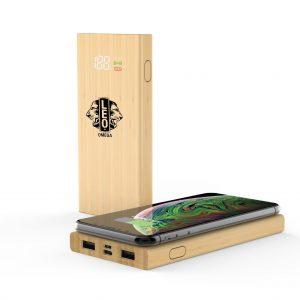 COMRAT - 6000mAh Bamboo Wireless Powerbank
